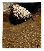 Fools Gold And Pine Cone Fleece Blanket