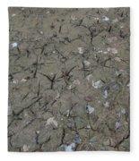 Foot Prints In The Mud Fleece Blanket