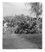 Football Game, 1912 Fleece Blanket