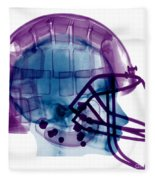 Football Helmet X-ray Fleece Blanket