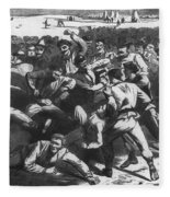 Football: Soldiers, 1865 Fleece Blanket