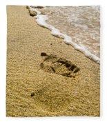 Footprint Fleece Blanket