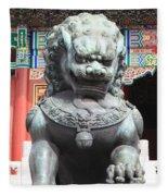 Forbidden City Lion Guardian Fleece Blanket