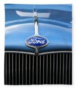 Ford Truck Emblem Fleece Blanket