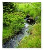 Forest Creek In Newfoundland Fleece Blanket