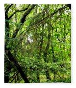 Forest In Denmark Fleece Blanket