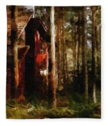 Forest In Fall Fleece Blanket