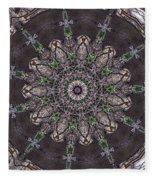 Forest Mandala 3 Fleece Blanket