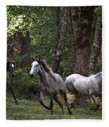 Forest Mares Fleece Blanket