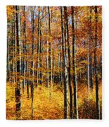 Forest Of Gold Fleece Blanket