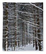 Forest Of Marburg In Winter Fleece Blanket