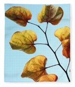 Forest Pansy Autumn Fleece Blanket
