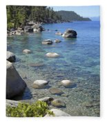 Forested Shores Of Lake Tahoe Fleece Blanket