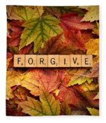 Forgive-autumn Fleece Blanket