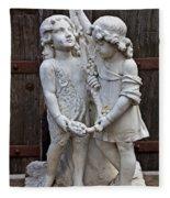 Forgotten Statue Fleece Blanket
