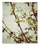 Forsythia  Fleece Blanket