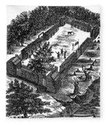 Fort Boonesborough, 1775 Fleece Blanket