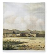 Fort Bridger, Wyoming, 1852 Fleece Blanket