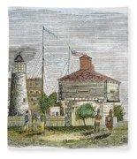 Fort Dearborn, 1830 Fleece Blanket
