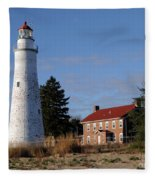 Fort Gratiot Lighthouse Fleece Blanket