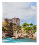 Fort Lovrijenac In Dubrovnik Fleece Blanket