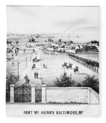 Fort Mchenry, 1862 Fleece Blanket