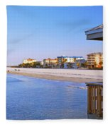 Fort Myers Beach Fleece Blanket