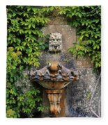 Fountain In The Walled Garden, Florence Fleece Blanket