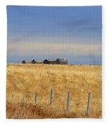 Four Outbuildings In The Field Fleece Blanket