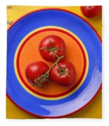 Four Tomatoes  Fleece Blanket