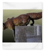 Fox On A Pedestal Fleece Blanket