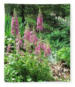 Foxgloves In My Garden Fleece Blanket