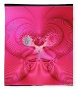 Fractal 30 Love Is In The Air Fleece Blanket
