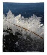Fractal Frosty Ice Crystals Fleece Blanket