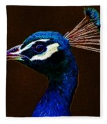 Fractalius Peacock Fleece Blanket