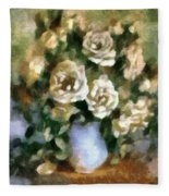 Fragrant Roses Fleece Blanket