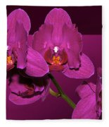 Framed Orchids Fleece Blanket