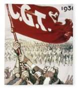 France: Popular Front, 1936 Fleece Blanket