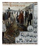 France: Socialism, 1900 Fleece Blanket