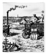 France: Steam Threshing Fleece Blanket