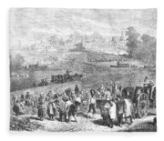 France: Wine Harvest, 1871 Fleece Blanket
