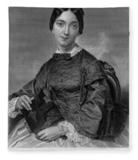 Frances Sargent Osgood (1811-1850). American Poet. Engraving From A Painting By Alonzo Chappel, C1873 Fleece Blanket