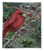 Franci's Cardinal Fleece Blanket