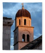 Franciscan Monastery Tower At Sunset Fleece Blanket