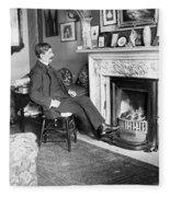 Frank Harris (1854-1931). American Writer Born In Galway, Ireland Fleece Blanket
