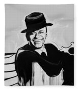 Frank In Black And White Fleece Blanket