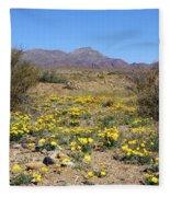 Franklin Mt. Poppies Fleece Blanket