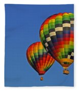 Fraternal Twin Balloons Fleece Blanket