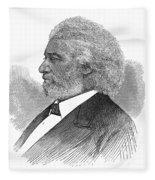Frederick Douglass (c1817-1895). American Abolitionist. Wood Engraving, American, 1877 Fleece Blanket