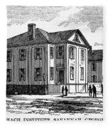 Freedmen School, 1868 Fleece Blanket